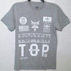 51f9bcf0849f6 Adidas Originals Top Ten 10 Graphic Tee Small EUC